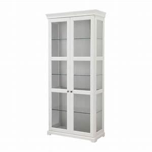 LIATORP Glass-door cabinet White 96x214 cm - IKEA