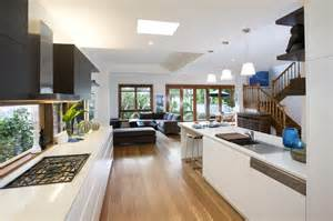 modern kitchen island pendant lights looking out to the living area modern kitchen sydney