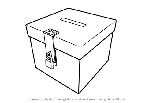 learn   draw  ballot box everyday objects step