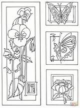 Coloring Coloriage Bamboo Easy Animal Sheets Imprimer Tegninger Flowers Butterflies Seniors Crossing Til Blomster Printable Care Gratuit Popular Plant Fleurs sketch template