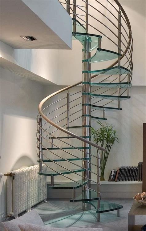 stunning glass spiral staircase designs