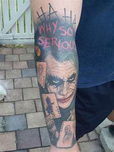 Joker Tattoo Designs on Sleeve for Man | Tattoo Design Ideas