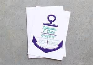 anchor wedding invitations invitations nautical invitations tying the knot invites anchor invites engagement shower