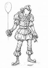 Pennywise Coloring Clown Drawing Clayton Horror Draw Drawings Barton Comics Ausmalbilder Tattoo Artstation Merry Howtodrawcomics Scary Pencil Inking Clowns Lovable sketch template