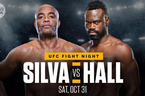 latest ufc fight card espn lineup  silva  hall