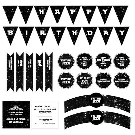 printable anniversaire star wars avec carte invitation