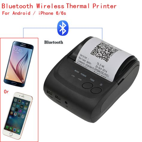 mini wireless 58mm portable bluetooth thermal printer