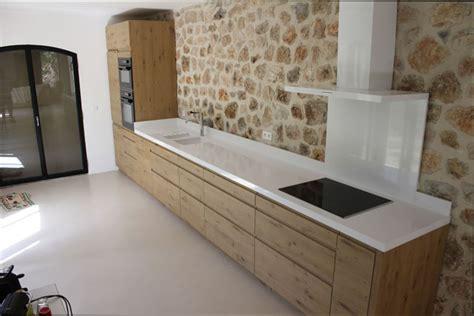 plan cuisine cuisine bois plan de travail blanc