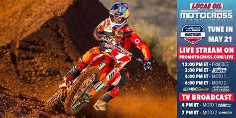 lucas oil pro motocross live 2016 lucas oil pro motocross tv schedule dirt bikes