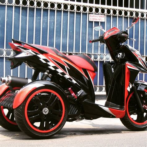 Modifikasi Mio J Merah by Modifikasi Motor Mio J Warna Merah Putih Frameimage Org