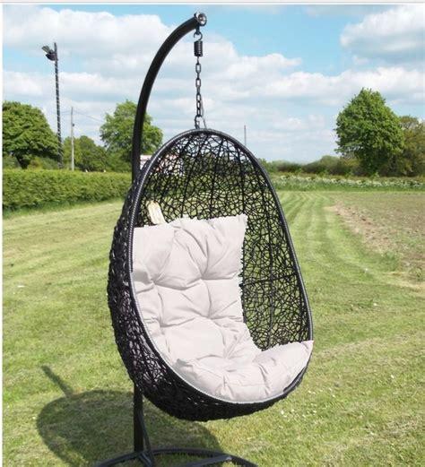 rattan egg wing swinging egg outdoor wicker chair hammock patio swing pool