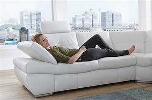 Salzburg sectional sleeper sofa white leather buy online for Sectional sofa or two sofas
