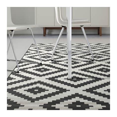 tapis poil beige lappljung ruta rug low pile white black 200x300 cm ikea