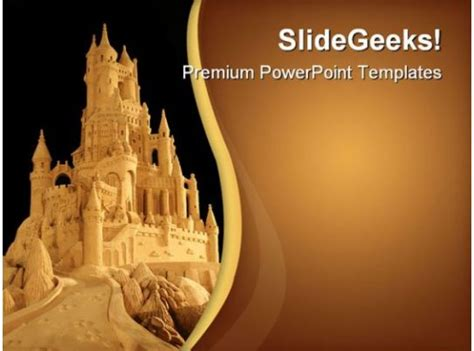 sand castle architecture powerpoint templates