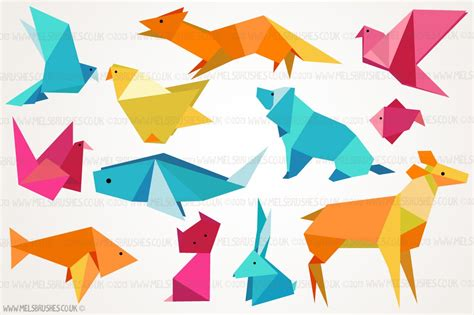 Origami Animal Illustrations