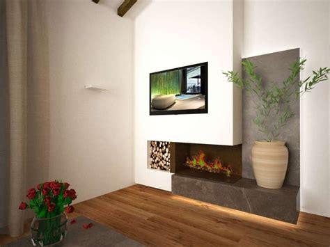 idee camini moderni caminetti moderni a parete camino ad angolo posto su una