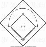 Baseball Field Clipart Diamond Coloring Clipground Printable Dragondekomodo sketch template