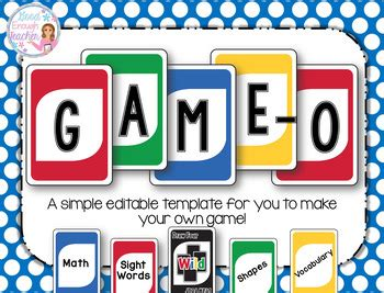 uno card template o create your own quot un by enough teachers pay teachers