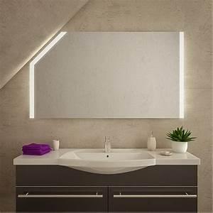 Spiegel Mit Schräge : led badspiegel mit dachschr ge akita sds015l2v ~ Michelbontemps.com Haus und Dekorationen