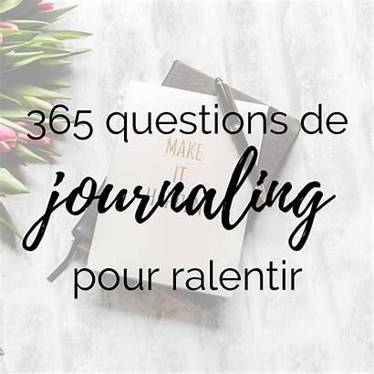 Journaling Questions Ralentir Cahier