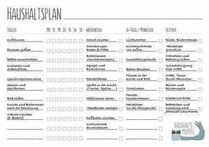 Haushalt Organisieren Plan Vorlage : haushaltsplan mit vorlage zum download freizeit haushaltsplaner ideen zur ~ Buech-reservation.com Haus und Dekorationen