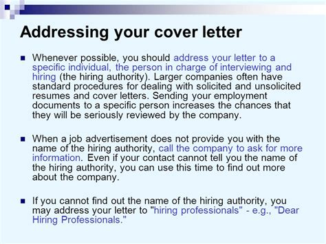 Who Do You Address Your Cover Letter To by Cover Letters And Business Letters Ppt