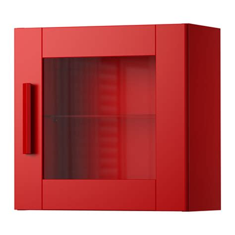glass door wall cabinet brimnes wall cabinet with glass door red ikea