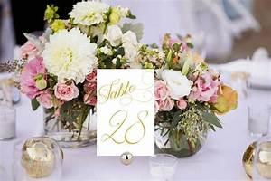 Elegant Table Numbers Printable, Wedding Table Numbers ...