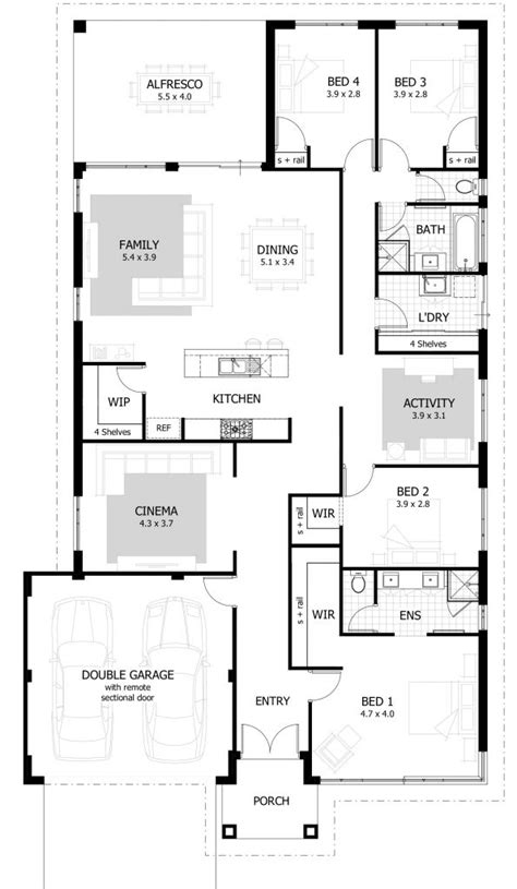 Inspirational Best Floor Plan For 4 Bedroom House New