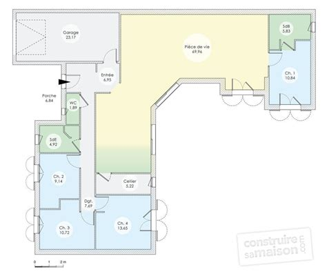 plan de maison plain pied 4 chambres gratuit plan maison contemporaine plain pied 4 chambres maison
