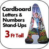 4 foot tall cardboard letters numbers standup dino for 3 foot cardboard letters