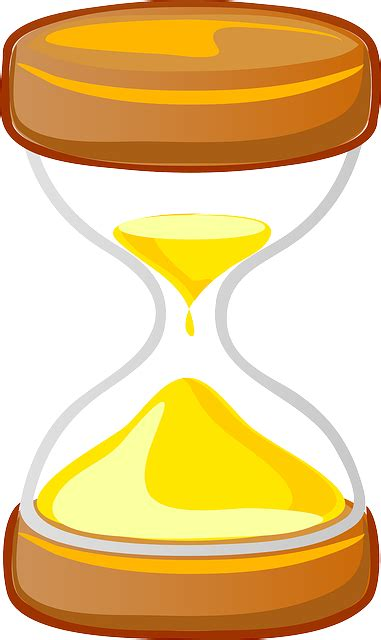 vector graphic hourglass timer sand clock