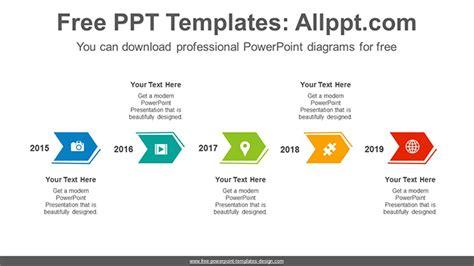 horizontal chevron arrows powerpoint diagram template