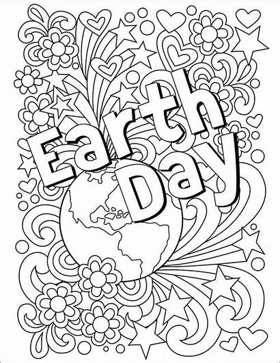 Earth Coloring Pages Happy Printable Planet Colorful