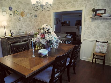dining room farmhouse chic french country toile buffet