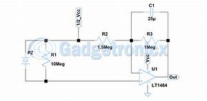 Pressure Sensor Circuit Without Using Microcontroller