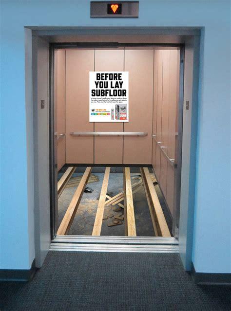 ground breaking ideas   elevator advertisement