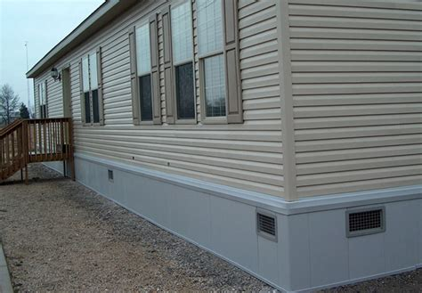 wood skirting for mobile homes parts affordable wide skirting ideas your mobile 1947