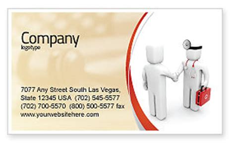 patient  doctor business card template layout