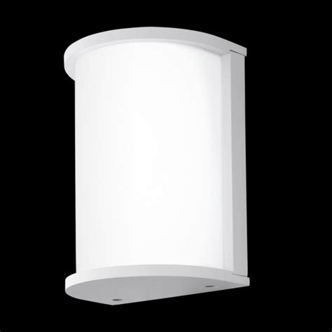eglo 95098 desella led outdoor wall light silver grey ip44