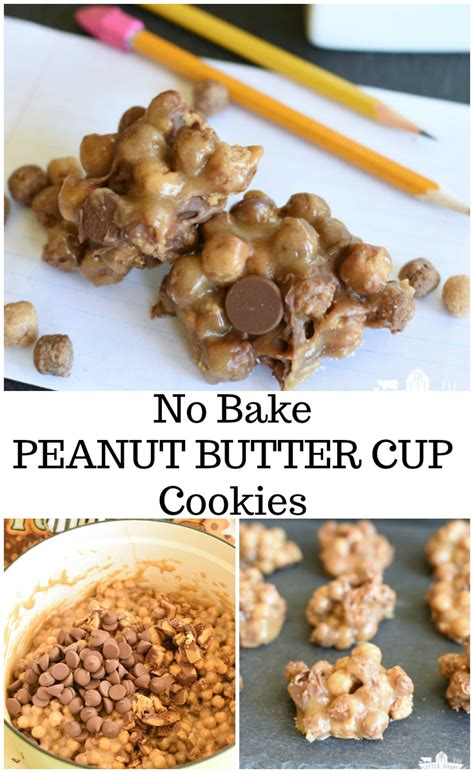 peanut butter no bake cookies no bake peanut butter cup cookies little dairy on the prairie