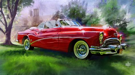 vintage cars garth glazier arts american classic car paintings garth