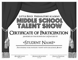 free talent show certificates just bcause With talent show certificate template