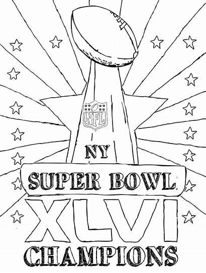 Bowl Coloring Super Trophy Pages Patriots England