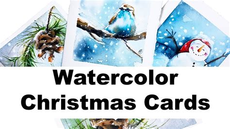 youtube watercolor christmas cards tutorials watercolors easy cards painting tutorial