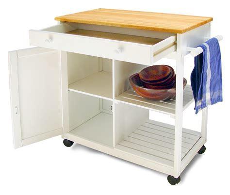 Classic Cottage Design Kitchen Cart w/ White Base