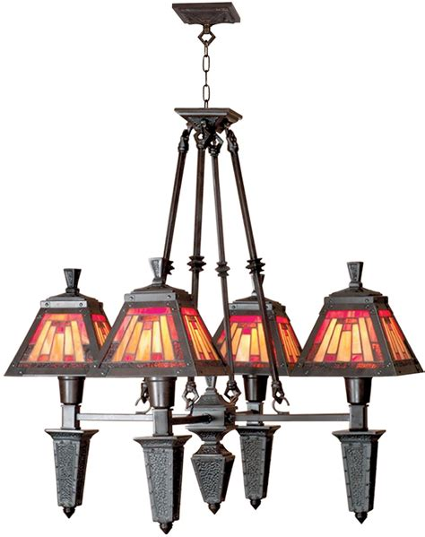 Mica Chandelier by Dale Mission Chandelier Mica Bronze Rolled
