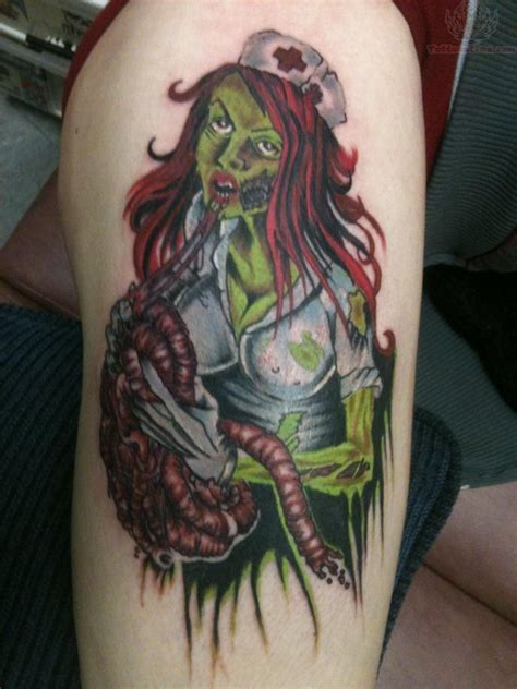 zombie tattoo nurse tattoos horror designs creepy traditional deviantart halloween awesome inspired awesomely body meaning