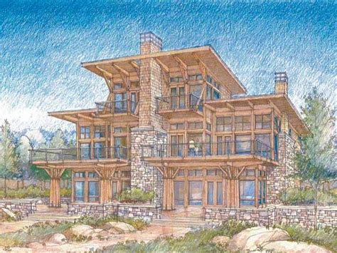 waterfront luxury home plans modern waterfront house plans lake view house plans treesranchcom