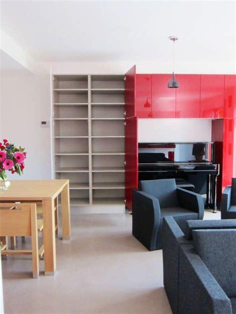 magasin cuisine luxembourg rangements sur mesure rouges aménagés par le magasin